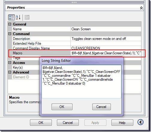 AutoCAD-CUI-Macro window