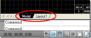 AutoCAD Model & Layout Tabs
